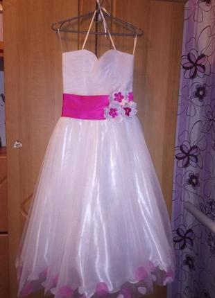 Шикарное платье для девочки для выпускного вечера, 10-12 лет