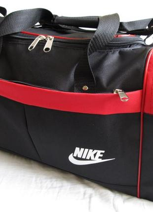6fcd6d27 Сумка дорожная через плечо спортивная модель 110 кубик черная с красным