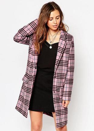 Новое стильное весеннее пальто в клетку glamorous