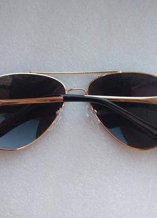 Новые модные очки авиаторы с поляризацией, черные