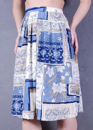 Разноцветная юбка-солнце в миди длине, длинная юбка с цветочным принтом paul's boutique