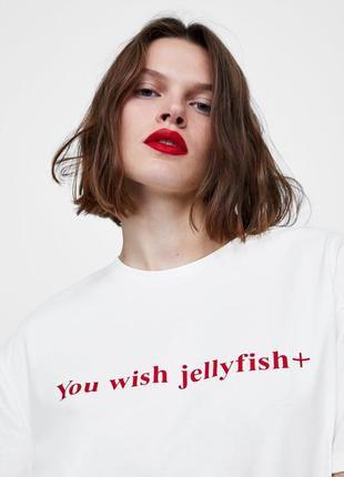 Новая крутая футболка оверсайз oversize с надписью слоганом s размер зара zara