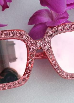 Sale!! новые крутые солнцезащитные очки, розовые зеркальные1 фото