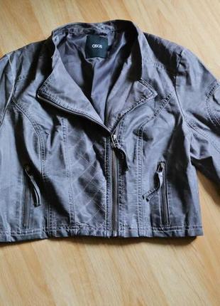Крутая укороченная стеганая куртка / рукав 3/4 asos