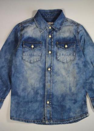 Джинсовая рубашка esprit 4-5 лет, 104-110  см