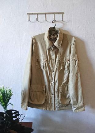 Весенняя бежевая куртка с накладными карманами 🔸бренд steffen shraut