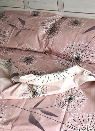 """Двухспальное постельное бельё из бязь голд""""одуванчик'"""