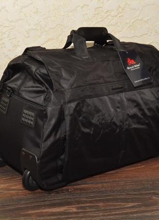 Сумка дорожная малая текстильная на колесах черная
