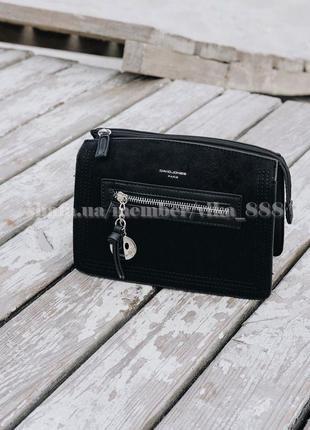 Клатч, сумка через плечо david jones 5946 черный