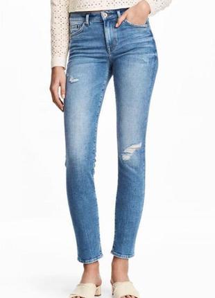 Оригинальные джинсы-slim regular ankle jeans от бренда h&m разм. 29