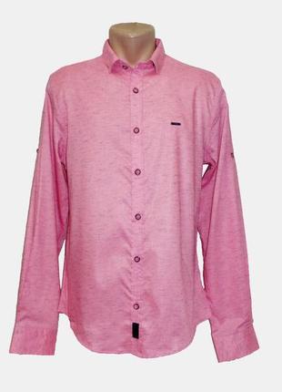 Мужская рубашка c рукавом трансформер amato, турция. разные цвета. большие размеры.