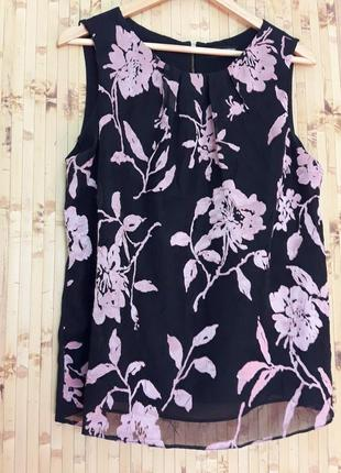 Блузка шифоновая топ цветы