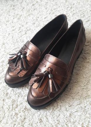 Туфли лоферы мокасины
