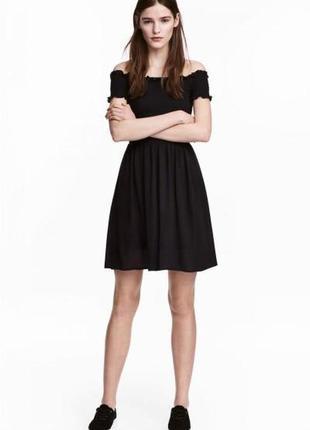 Оригинальное платье с вафельной резинкой от бренда h&m разм. 38