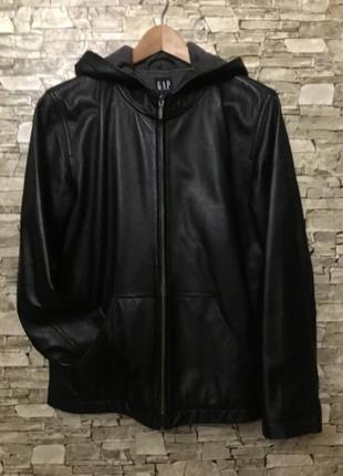 Фирменная кожаная курточка gap,l