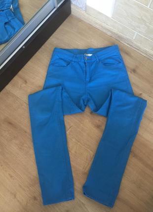 Синие штаны h&m