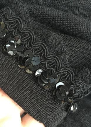 Шерсть кофта,свитер,джемпер,кружево,пайетки,blue & blue,люкс бренд,оригинал,италия9 фото
