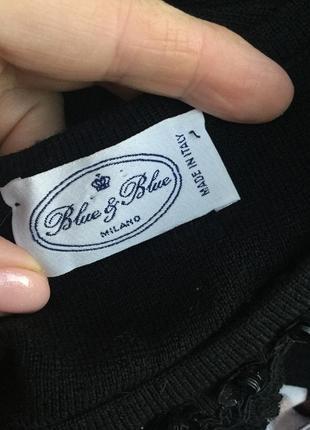 Шерсть кофта,свитер,джемпер,кружево,пайетки,blue & blue,люкс бренд,оригинал,италия10 фото