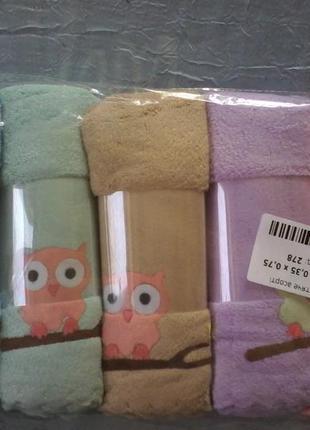 Комплект детских полотенец 35х75 см 3 шт