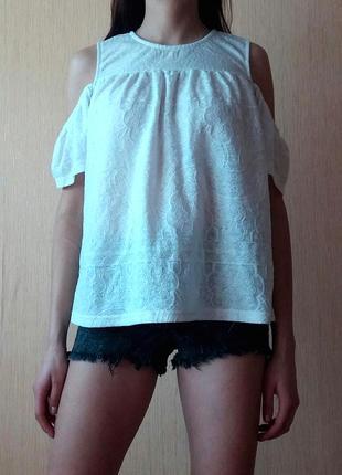 Распродажа! легкая летняя блуза с открытыми плечами