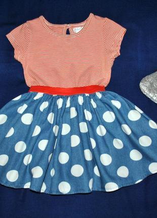 Пышное платье в горошек р.2-3года