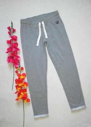 Классные трикотажные спортивные брюки серый меланж с начесом amanson