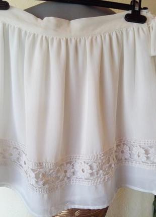 Красивая юбка на запах,цвет айвори1 фото