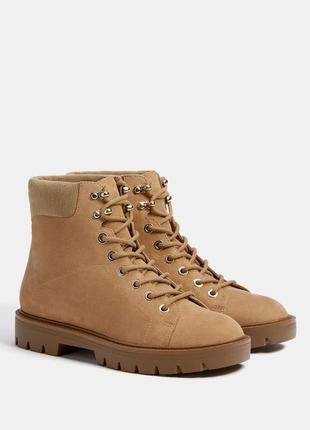 Ботинки со шнуровкой bershka