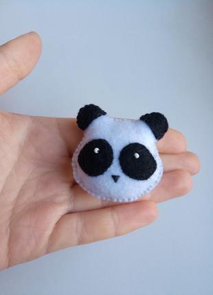 Брошь панда, брошка панда з фетру ручної роботи!