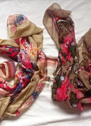 Нежные шарфы и платки