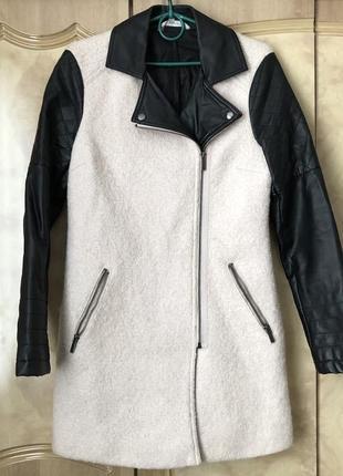 Английское пальто искусственная овчина