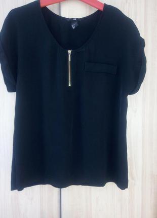 Блуза h&m/чорна блуза