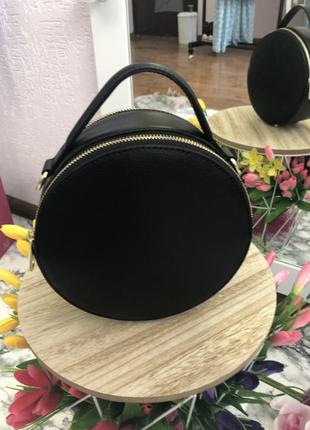 Круглая сумка ( натур.кожа, италия)