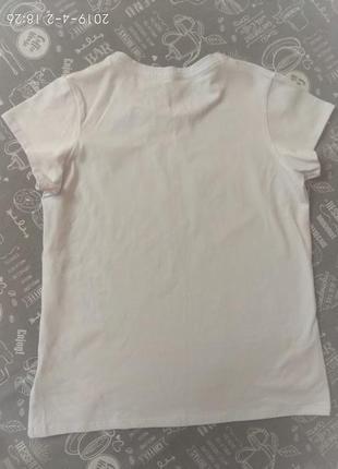 Стильная белая футболка5 фото