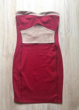 Бандажне бордове плаття міні bershka