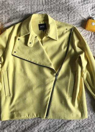 Жакет, куртка косуха желтого цвета5 фото