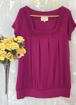 Яркая 🌺🌺🌺 вискозная блузка футболка laura ashley.
