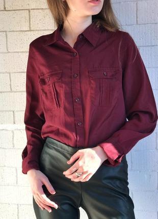 Рубашка , бордо, марсал, george, s ,