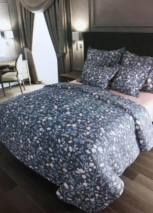 """Двухспальный комплект постельного белья из бязи голд""""васильки цветочки"""""""