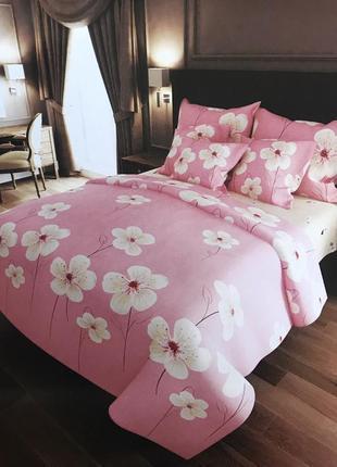 """Двухспальный комплект постельного белья """"орхидея"""""""