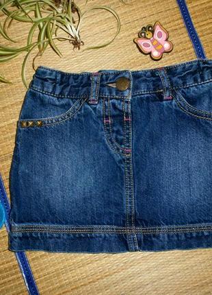 Юбка джинсовая для девочки 3-4года