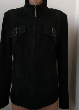 Куртка натуральный замш с лазерным напылением