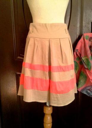 Катоновая юбка бежевая,2xl.