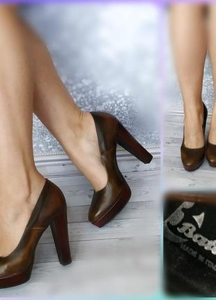 38р  новые италия bata,эко-кожа,туфли на платформе и каблуке