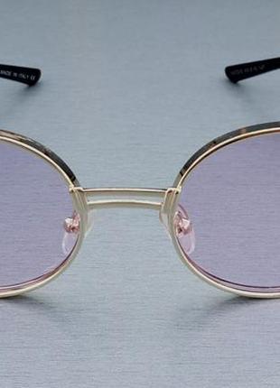 Versace очки женские солнцезащитные в металлической оправе розовые