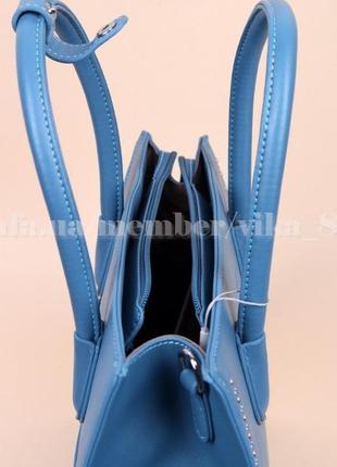 Женская сумка david jones 5143 голубая4 фото