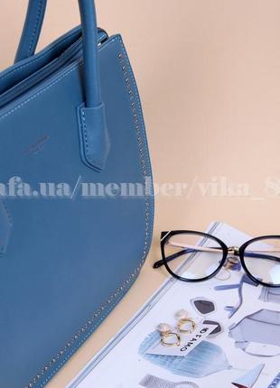 Женская сумка david jones 5143 голубая5 фото