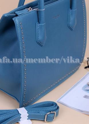 Женская сумка david jones 5143 голубая7 фото