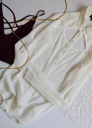 Блуза шифонова з цікавою спинкою topshop