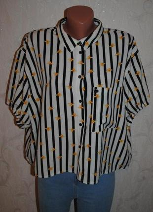 "Блуза из плотного шифона ""topshop"""
